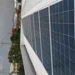 solar panels on roof of Laguna, Philippines factory