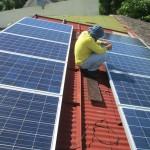 20 kWp solar panel installation , Cebu City