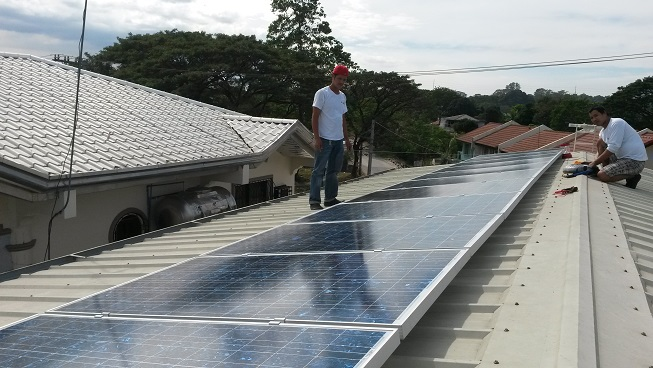 5kWp solar panels in Caloocan City Philippines