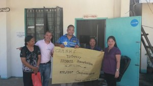 Solaric at Cirilo Montejo National High School in Tacloban, with Henkel Foundation