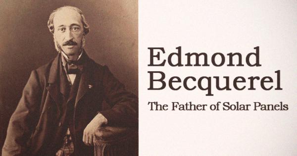 Edmond Becquerel The Father Of Solar Panels Solar