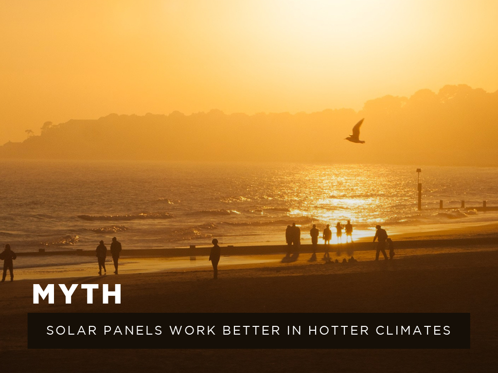Myth #4: Solar panels work better in hotter climates