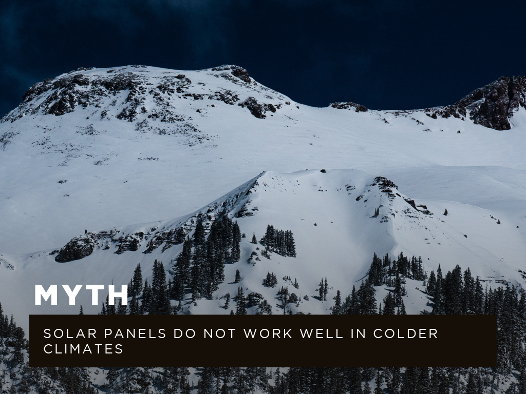Myth #5: Solar panels do not work well in colder climates