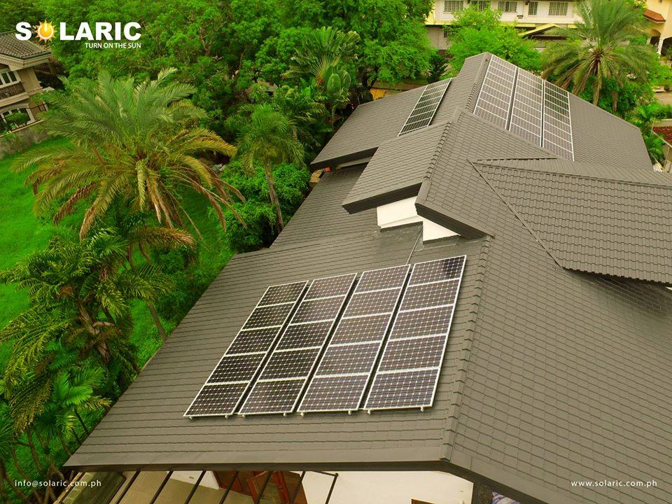 Solaric's solar panels priced in the Philippines on your roof