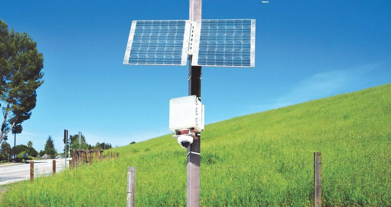 Solar Powered Telecommunication Lines and Surveillance