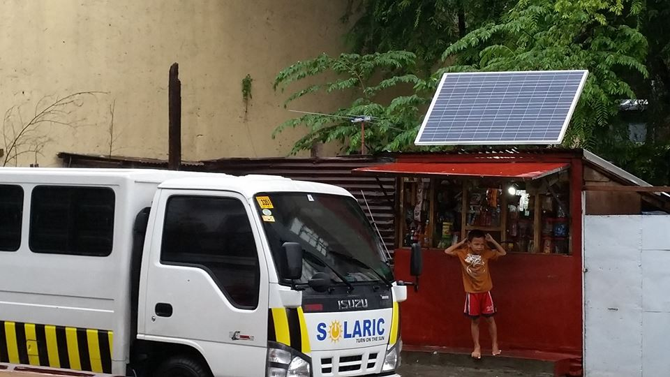 A sari-sari store in the Philippines installed with solar panels