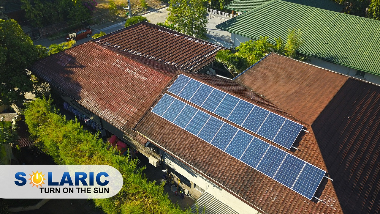 Solar panels on top of a rooftop in the Philippines