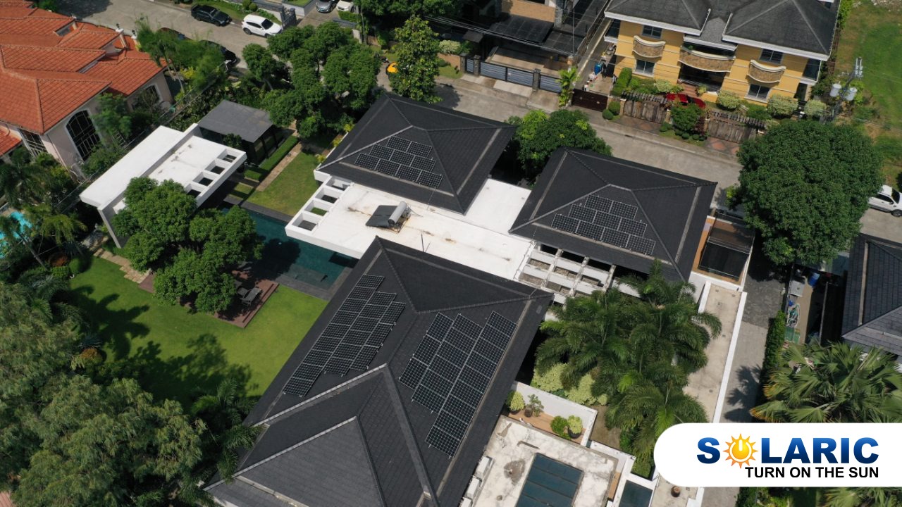 Houses with solar roofing