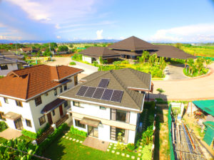 Top shot of a home with solar
