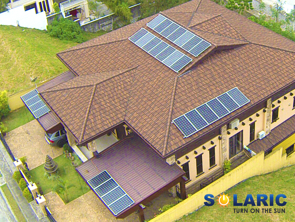 Solar on a home's rooftop