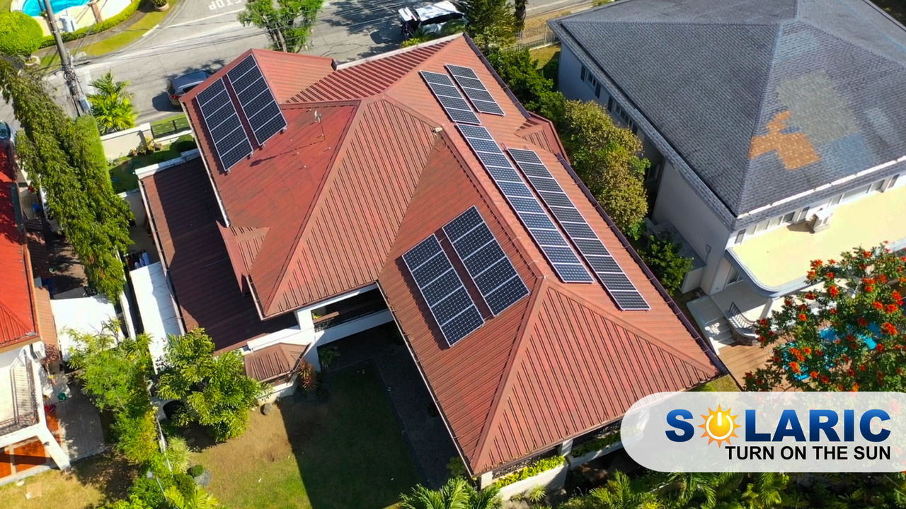 Rooftop solar on a home