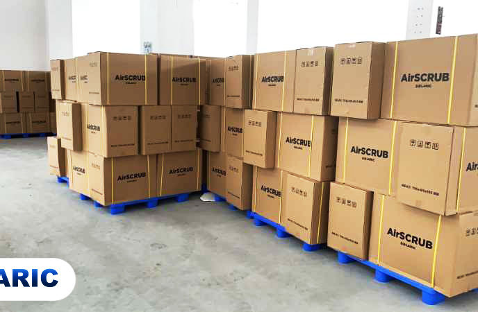 Boxes of AirSCRUB series