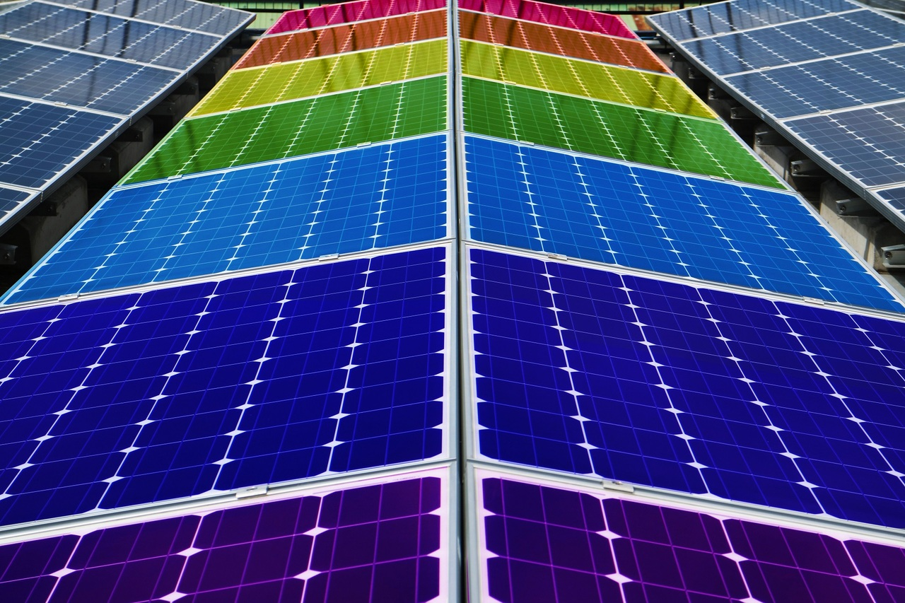 Photo of colorful solar grids