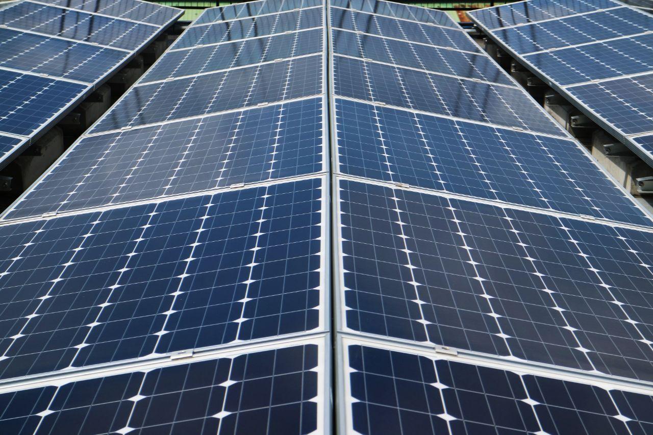 Close up photo of solar grids