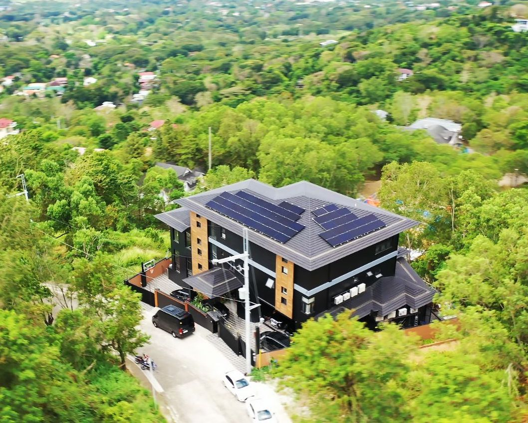 A home with solar grids