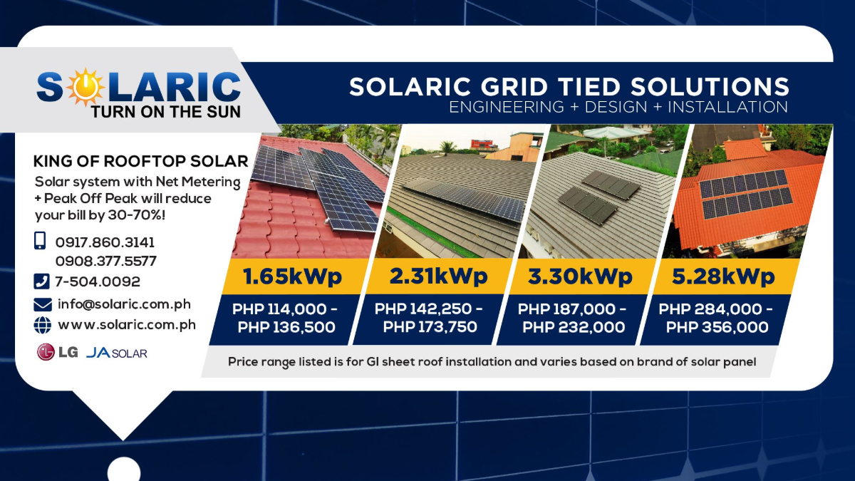 1.65kWp Grid Tie System = for Php 114k ONLY